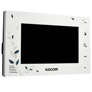 Домофон Kocom KCV-A374LE white Slezhka.com.ua Безпечний Дім