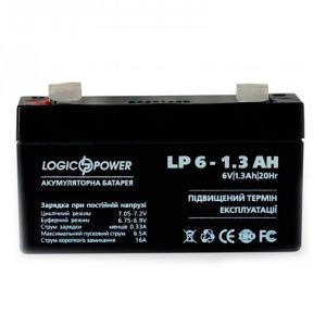 Аккумуляторная батарея LogicPower 6V 1.3 Ah Slezhka.com.ua Безпечний Дім