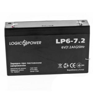 Аккумуляторная батарея LogicPower 6V 7 Ah Slezhka.com.ua Безпечний Дім