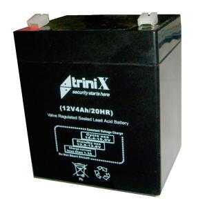 Аккумуляторная батарея Trinix 12V 4 Ah Slezhka.com.ua Безпечний Дім