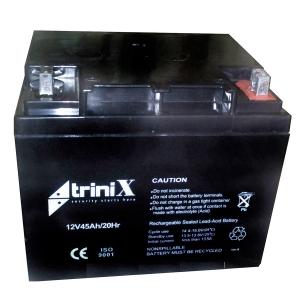 Аккумуляторная батарея Trinix 12V 45 Ah Slezhka.com.ua Безпечний Дім