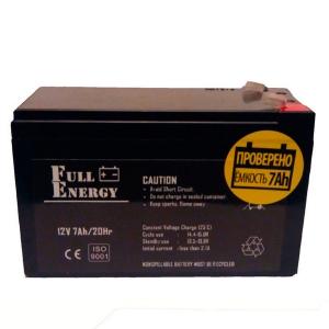 Аккумуляторная батарея Full Energy 12V 7 Ah Slezhka.com.ua Безпечний Дім
