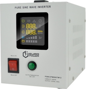 Блок безперервного живлення Europower UPS PSW-EPW800TW12 Slezhka.com.ua Безпечний Дім