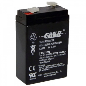 Аккумуляторная батарея LogicPower 6V 2.8 Ah Slezhka.com.ua Безпечний Дім