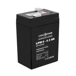 Аккумуляторная батарея LogicPower AGM LPM 6V 4.5 Ah Slezhka.com.ua Безпечний Дім