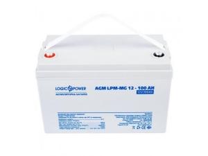 Аккумуляторная батарея LogicPower AGM LPM-MG 12V 100 Ah (мультигелевий) Slezhka.com.ua Безпечний Дім