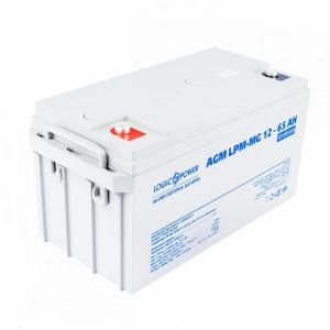 Аккумуляторная батарея LogicPower AGM LPM-MG 12V 65 Ah Slezhka.com.ua Безпечний Дім