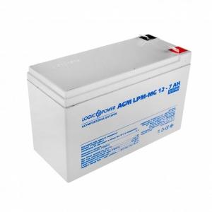 Аккумуляторная батарея LogicPower AGM LPM-MG 12V 7 Ah (мультигелевый) Slezhka.com.ua Безпечний Дім