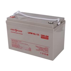 Аккумуляторная батарея LogicPower LPM-GL 12-100 AH Silver Slezhka.com.ua Безпечний Дім