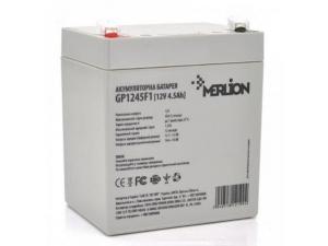 Аккумуляторная батарея Merlion GP1245F1 12V 4.5 Ah Slezhka.com.ua Безпечний Дім