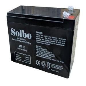 Аккумуляторная батарея Solbo DB 12V 7 Ah Slezhka.com.ua Безпечний Дім