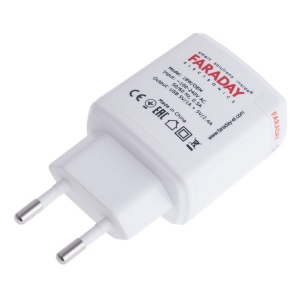 Блок живлення Faraday 18W/OEM/5V/1A+2,4A (USB out) Slezhka.com.ua Безпечний Дім