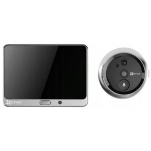 Комплект Ezviz CS-DP1С Silver Metalic Wi-Fi дверний глазок і домофон Slezhka.com.ua Безпечний Дім