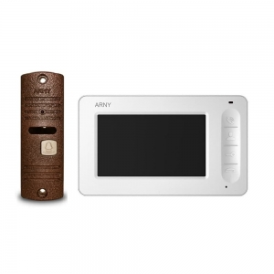 Комплект домофону Arny AVD-4005 white/copper Slezhka.com.ua Безпечний Дім