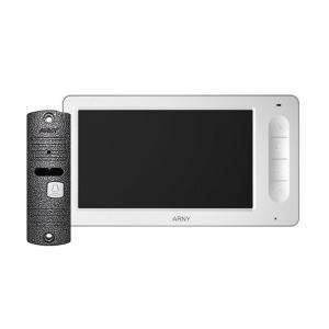 Комплект домофону Arny AVD-7006 white / gray Slezhka.com.ua Безпечний Дім