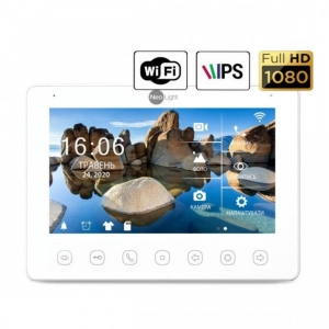Домофон NeoLight Omega+ HD WF2 white (by Balter) Slezhka.com.ua Безпечний Дім