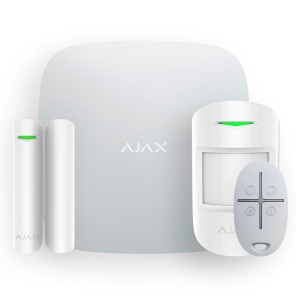Безпровідна сигнализація Ajax HubKit Plus (комплект) білий Slezhka.com.ua Безпечний Дім