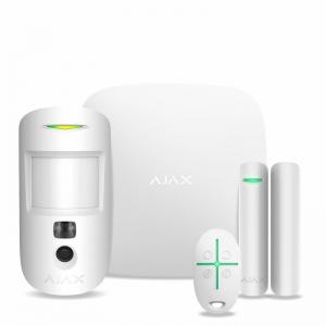 Безпровідна сигнализація Ajax StarterKit Cam(комплект) белый Slezhka.com.ua Безпечний Дім