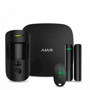 Безпровідна сигнализація Ajax StarterKit Cam(комплект) чёрный Slezhka.com.ua Безпечний Дім