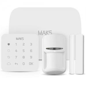 Комплект Maks PRO (GSM + LAN) white Slezhka.com.ua Безпечний Дім
