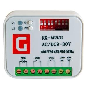 Приймач зовнішій універсальний Gant 2-канальний RX Multi Slezhka.com.ua Безпечний Дім