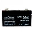 Аккумуляторная батарея LogicPower 6V 1.3 Ah Slezhka
