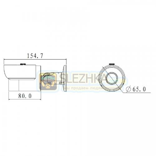 HD-CVI відеокамера Dahua DH-HAC-HFW2220SP (8мм)